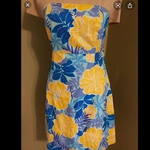 Lilly Pulitzer Strapless Tie-Back Dress